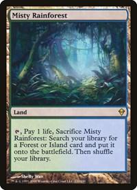 Misty Rainforest, Magic: The Gathering, Zendikar