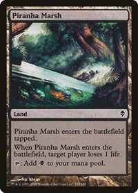 Piranha Marsh, Magic: The Gathering, Zendikar