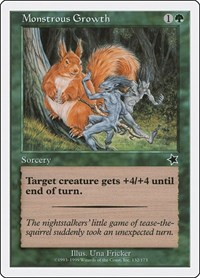 Monstrous Growth, Magic: The Gathering, Starter 1999