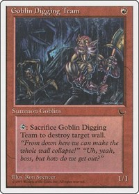 Goblin Digging Team, Magic: The Gathering, Chronicles