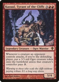 Kazuul, Tyrant of the Cliffs, Magic: The Gathering, Worldwake