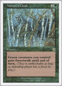 Nature's Cloak, Magic: The Gathering, Starter 1999