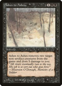 Ashes to Ashes, Magic: The Gathering, The Dark
