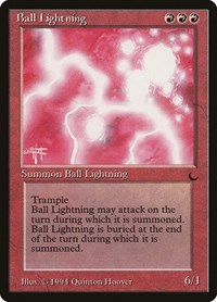 Ball Lightning, Magic: The Gathering, The Dark