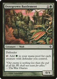 Overgrown Battlement, Magic: The Gathering, Rise of the Eldrazi