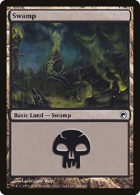 Swamp (240), Magic: The Gathering, Scars of Mirrodin