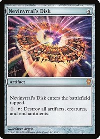 Nevinyrral's Disk, Magic, From the Vault: Relics