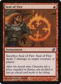 Seal of Fire, Magic, Duel Decks: Jace vs. Chandra