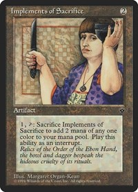 Implements of Sacrifice, Magic: The Gathering, Fallen Empires
