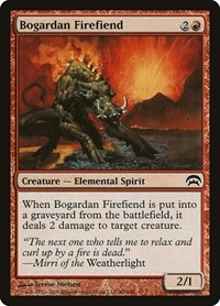 Bogardan Firefiend, Magic: The Gathering, Planechase