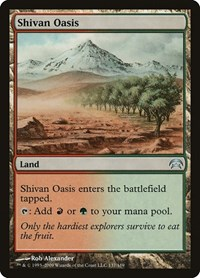 Shivan Oasis, Magic: The Gathering, Planechase