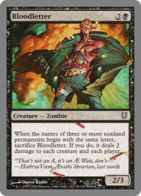 Bloodletter, Magic: The Gathering, Unhinged