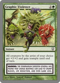 Graphic Violence, Magic: The Gathering, Unhinged