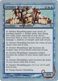 Greater Morphling, Magic: The Gathering, Unhinged