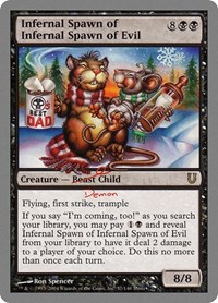 Infernal Spawn of Infernal Spawn of Evil, Magic: The Gathering, Unhinged