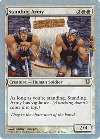 Standing Army, Magic: The Gathering, Unhinged