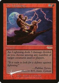 Arc Lightning, Magic: The Gathering, Arena Promos
