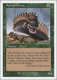 Spined Wurm, Magic: The Gathering, Media Promos