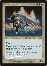 Avatar of Hope, Magic: The Gathering, Prerelease Cards