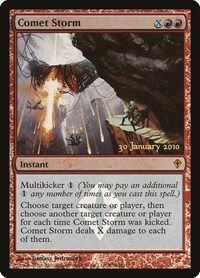 Comet Storm, Magic: The Gathering, Prerelease Cards