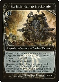 Korlash, Heir to Blackblade, Magic: The Gathering, Prerelease Cards