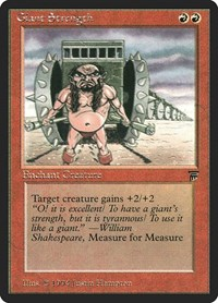 Giant Strength, Magic: The Gathering, Legends
