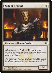 Ardent Recruit, Magic: The Gathering, Mirrodin Besieged