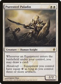 Puresteel Paladin, Magic: The Gathering, New Phyrexia