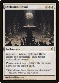 Exclusion Ritual, Magic: The Gathering, New Phyrexia
