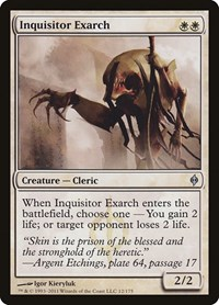 Inquisitor Exarch, Magic: The Gathering, New Phyrexia