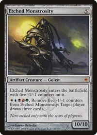 Etched Monstrosity, Magic: The Gathering, New Phyrexia