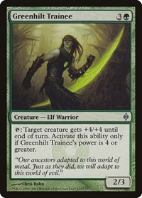 Greenhilt Trainee, Magic: The Gathering, New Phyrexia