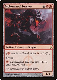 Moltensteel Dragon, Magic: The Gathering, New Phyrexia