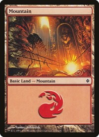 Mountain (173), Magic: The Gathering, New Phyrexia