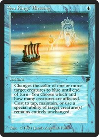 Sea Kings' Blessing, Magic: The Gathering, Legends