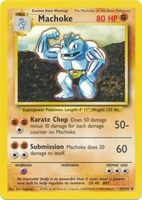 Machoke, Pokemon, Base Set