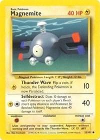 Magnemite, Pokemon, Base Set