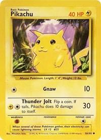 Pikachu, Pokemon, Base Set