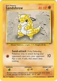 Sandshrew, Pokemon, Base Set