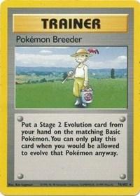 Pokemon Breeder, Pokemon, Base Set
