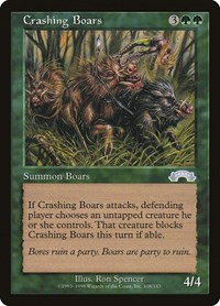 Crashing Boars, Magic, Exodus