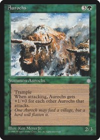 Aurochs, Magic: The Gathering, Ice Age