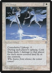 Cold Snap, Magic: The Gathering, Ice Age