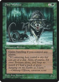 Dire Wolves, Magic: The Gathering, Ice Age