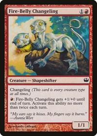 Fire-Belly Changeling, Magic, Duel Decks: Knights vs. Dragons