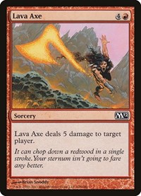 Lava Axe, Magic: The Gathering, Magic 2012 (M12)