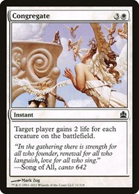 Congregate, Magic: The Gathering, Commander