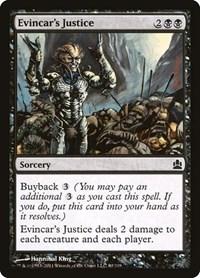 Evincar's Justice, Magic: The Gathering, Commander
