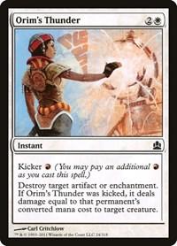Orim's Thunder, Magic: The Gathering, Commander