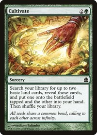 Cultivate, Magic: The Gathering, Commander